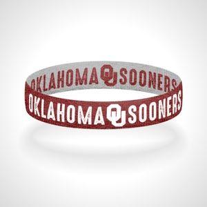 Reversible Oklahoma Sooners Bracelet Wristband